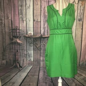 Banana Republic green dress with navy blue piping